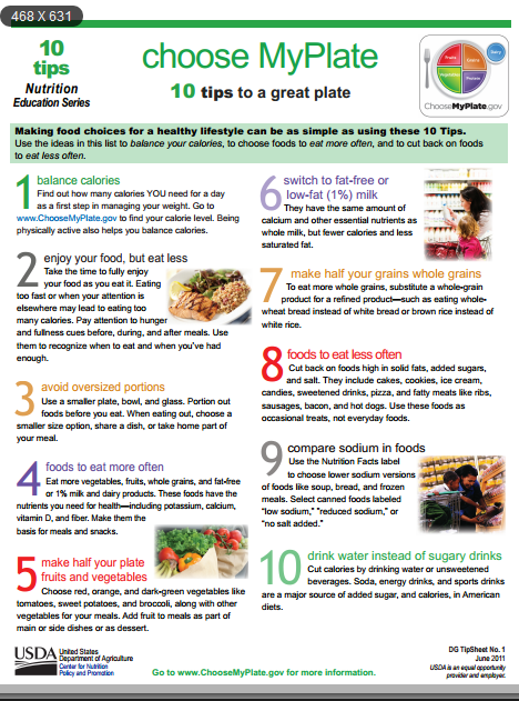 10 TIPS TO A GREAT PLATE AND HEALTHY DIET