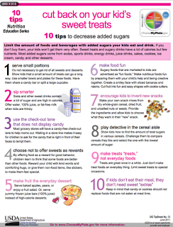 10 Tips to Decrease Added Sugars