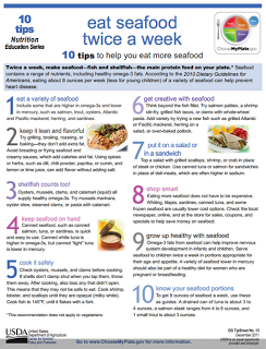 10 TIPS TO HELP YOU EAT MORE SEAFOOD