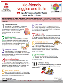 10 TIPS FOR MAKING HEALTHY FOODS MORE FUN FOR CHILDREN