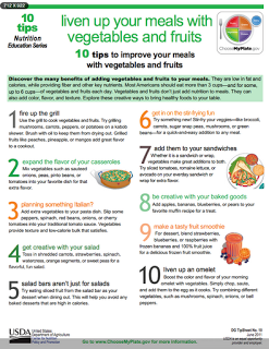 10 Tips to Improve Your Meals with Vegetables and Fruits