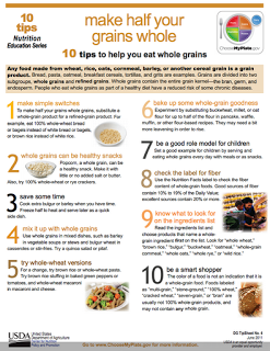 10 TIPS TO HELP YOU EAT WHOLE GRAINS